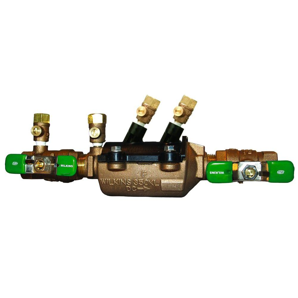 1 in. Lead-Free Bronze Double Check Valve Assembly with Integral Male