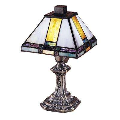 11 in. Tranquility Mission Antique Brass Accent Lamp