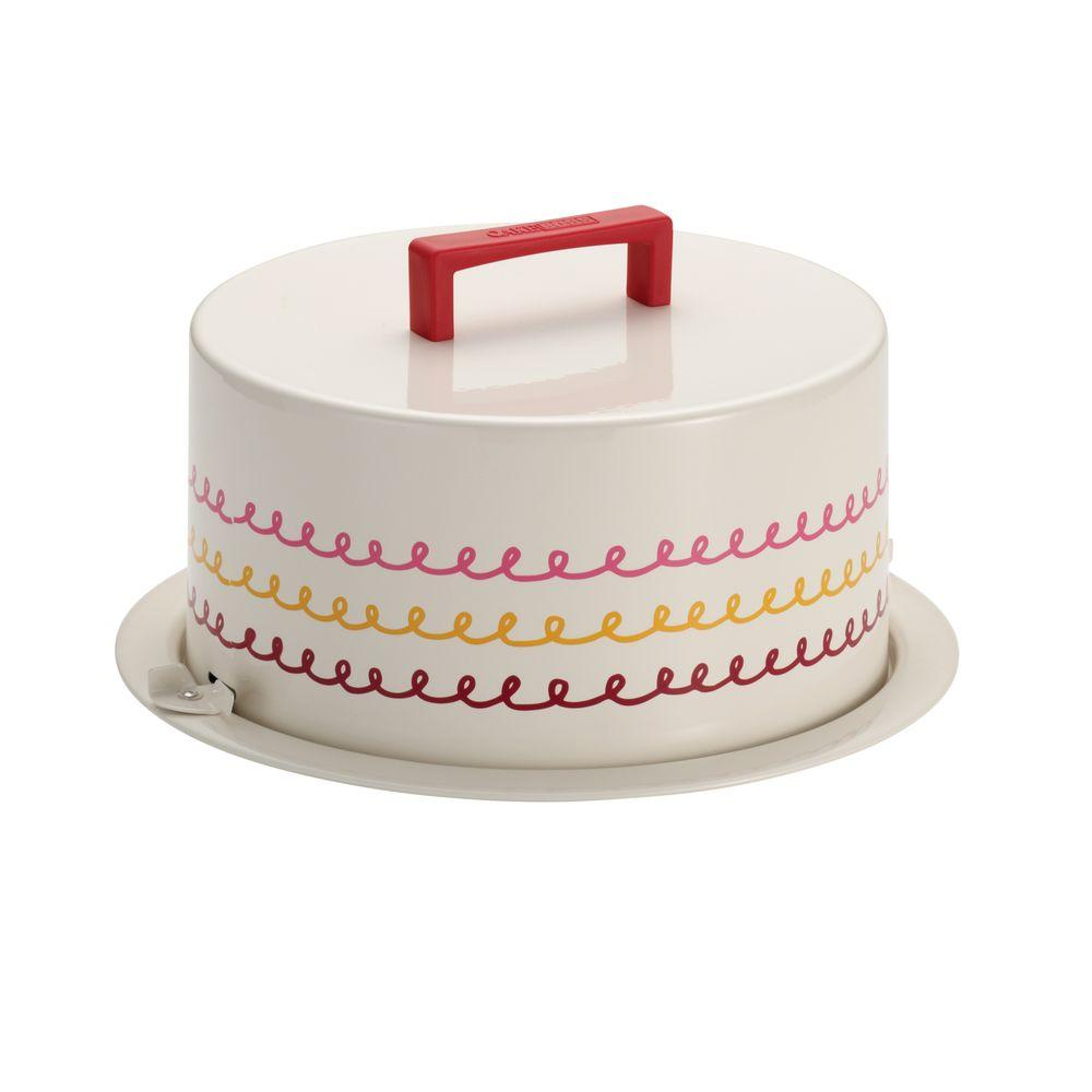 Serveware Metal Cream Cake Carrier with Icing