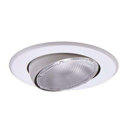 Eyeball recessed lighting trims recessed lighting the home depot white recessed ceiling light trim with adjustable eyeball aloadofball Image collections
