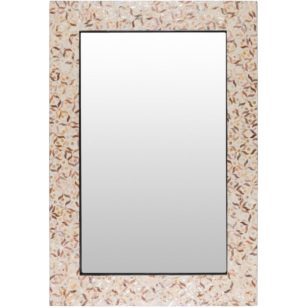 Heva 29.5 in. x 43.3 in. MDF Framed Mirror