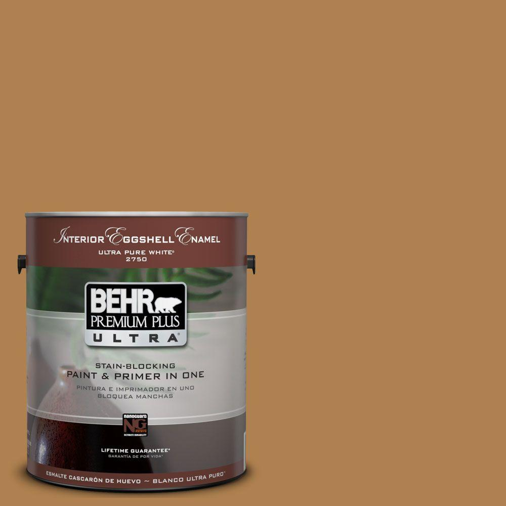 BEHR Premium Plus Ultra 1-Gal. #UL160-2 Gold Plated Interior Eggshell Enamel Paint