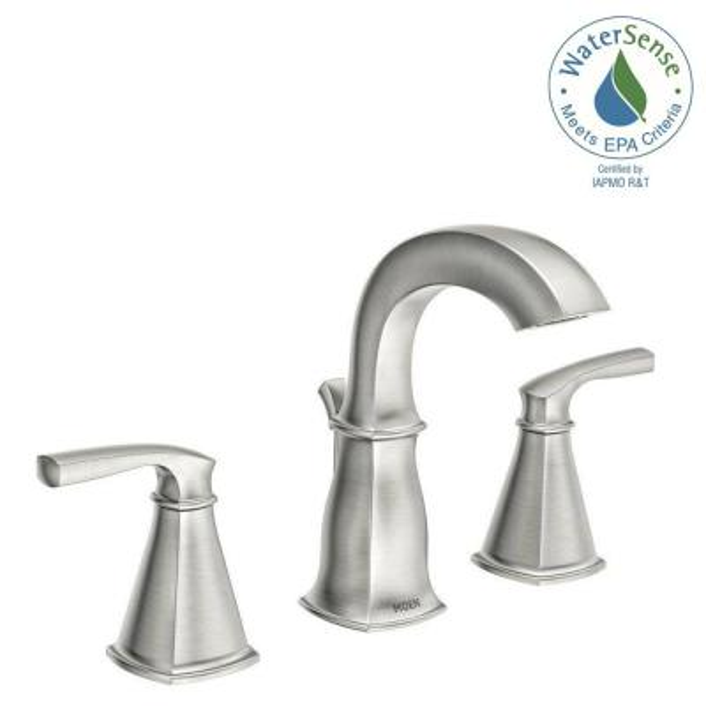 Hensley 8 in. Widespread 2-Handle Bathroom Faucet in Spot Resist Brushed Nickel