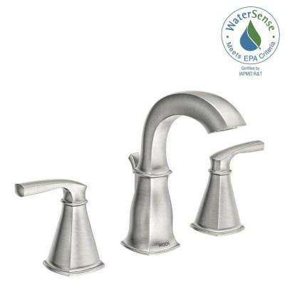 Hensley 8 in. Widespread 2-Handle Bathroom Faucet in Spot Resist Brushed Nickel