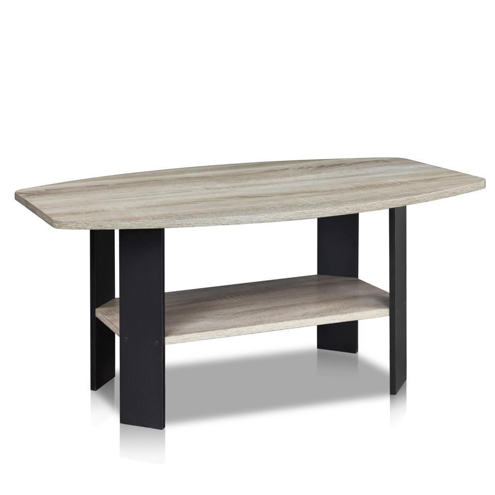Furinno Simple Design French Oak Grey Coffee Table