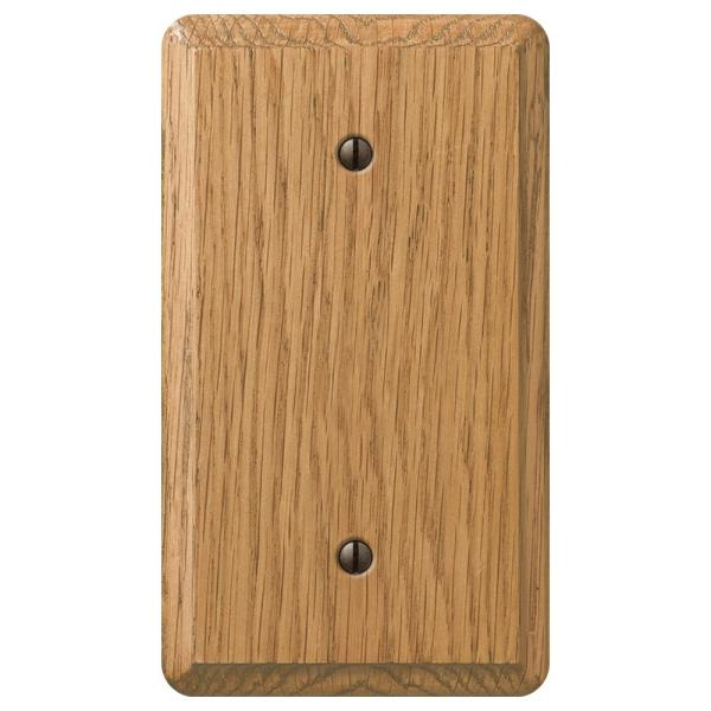 Contemporary 1 Gang Blank Wood Wall Plate - Light Oak