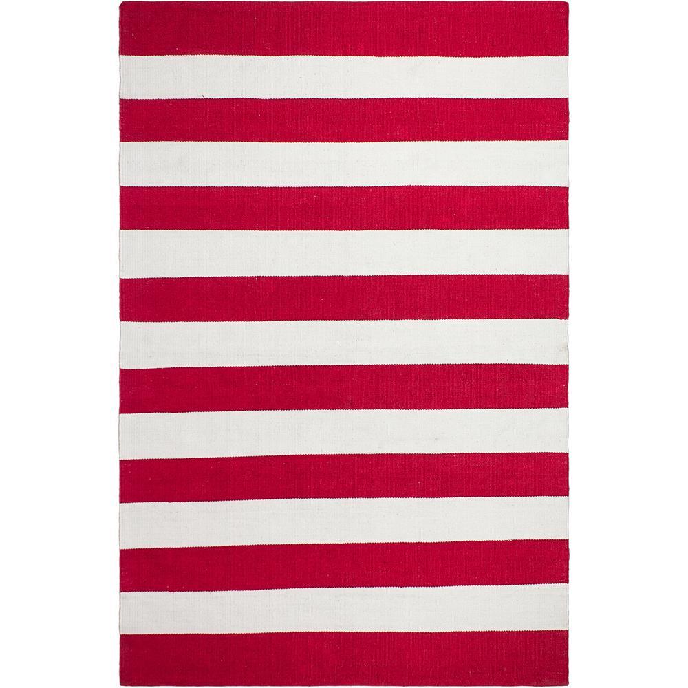 Nantucket - Indoor/ Outdoor Red and White (3 ft. x 5 ft. ) - PET Area Rug