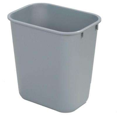 10 Gal. Gray Rectangular Office Trash Can (12-Case)