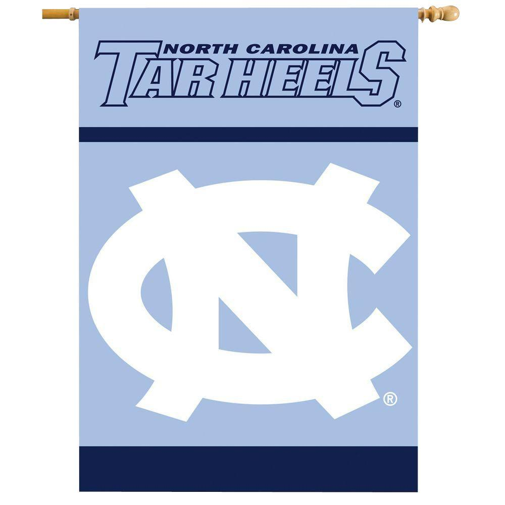 BSI Products NCAA 28 in. x 40 in. North Carolina 2-Sided Banner with Pole Sleeve