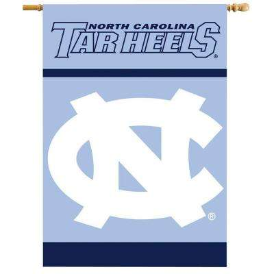 NCAA 28 in. x 40 in. North Carolina 2-Sided Banner with Pole Sleeve