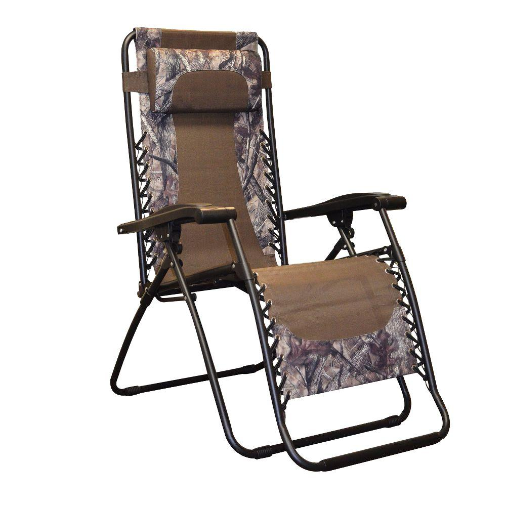 Camo Lounge Chair: Caravan Sports Infinity Camo Zero Gravity Patio Chair