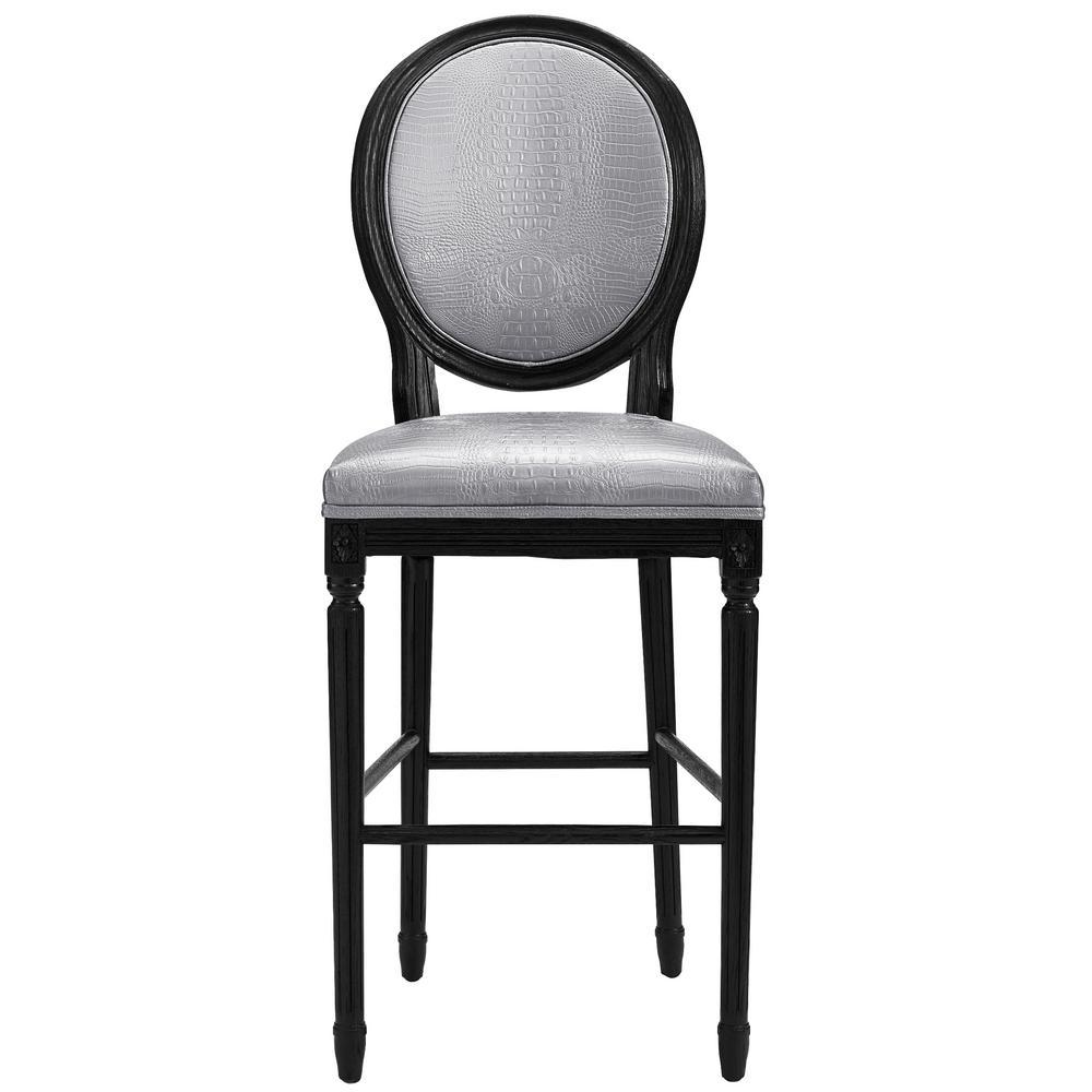 Tov Furniture Philip Silver Croc Bar Stool Tov Bs8 The