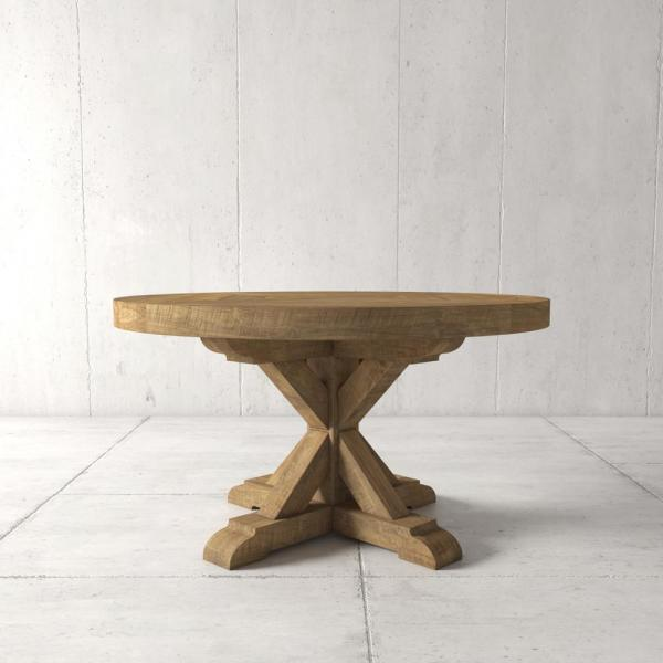 Urban Woodcraft Madera 48 in. Natural round Dining Table 500H.48DT.XB.N
