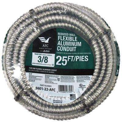 3/8 x 25 ft. Flexible Aluminum Conduit