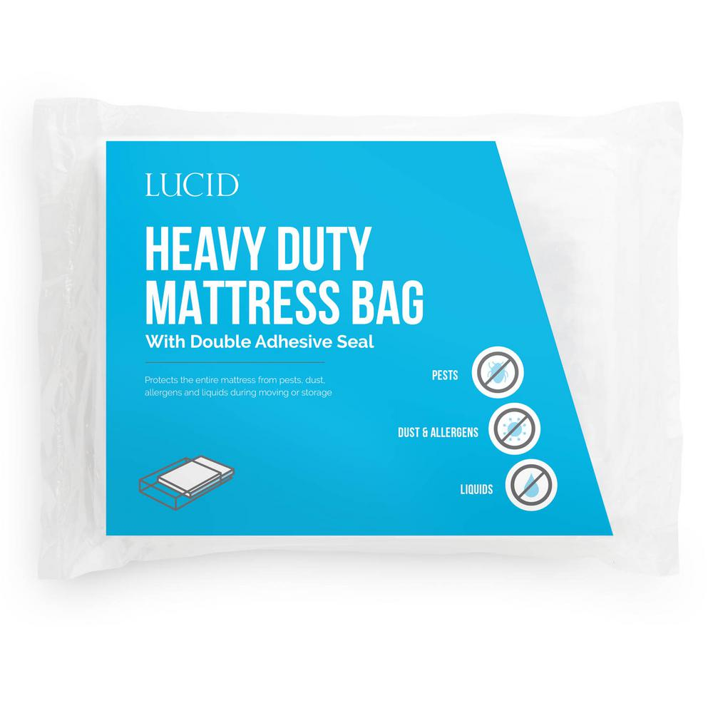 LUCID Queen Heavy Duty 3 Mil Mattress Bag