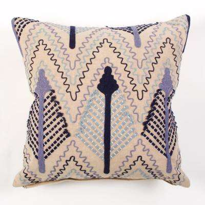 American Colors Linen and Embroidered Arrow Decorative Pillow