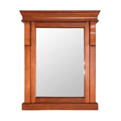 Naples 25 in. W x 31 in. H x 8 in. D Framed Surface-Mount Bathroom Medicine Cabinet in Warm Cinnamon