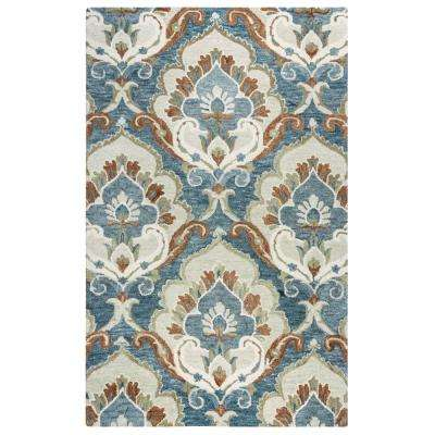 Leone Blue/Beige 5 ft. x 8 ft. Area Rug