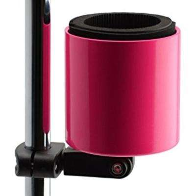 Kroozercups Deluxe Drink Holder Fits Bars from 5/8 in. to 1-3/8 in. at any Angle with New Super-Tight Grip in Hot Pink