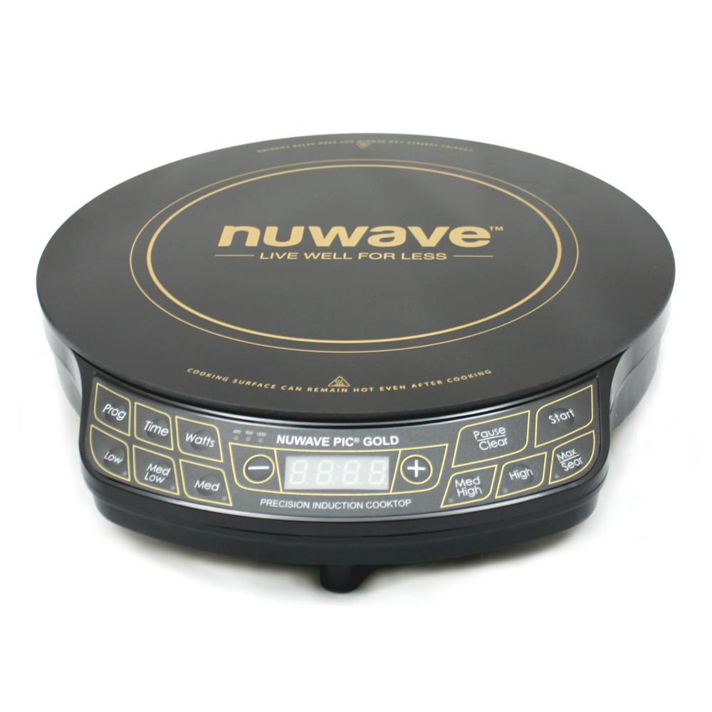 Nu-Wave 12 in. PIC Gold Precision Induction Cooktop in Bl...