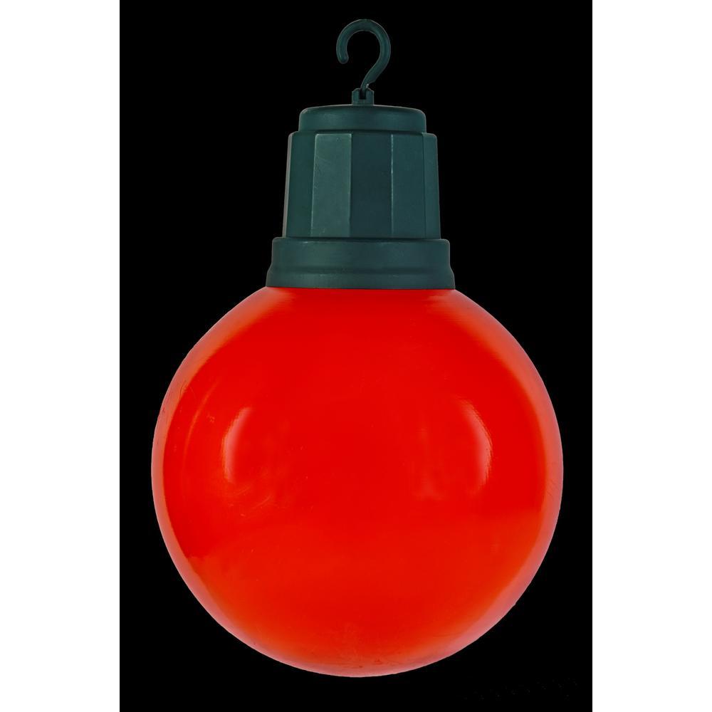 13 in. 2-Light LED Red Light-Up Christmas Ornament
