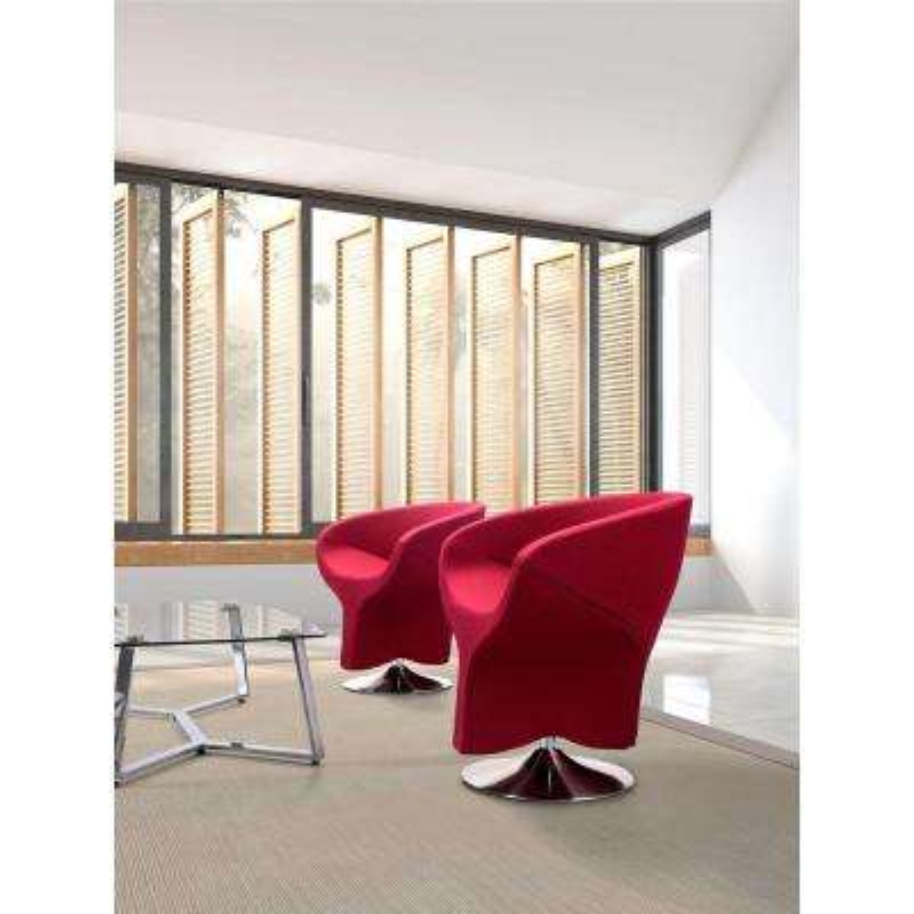 Kuopio Red Polyfiber Arm Chair