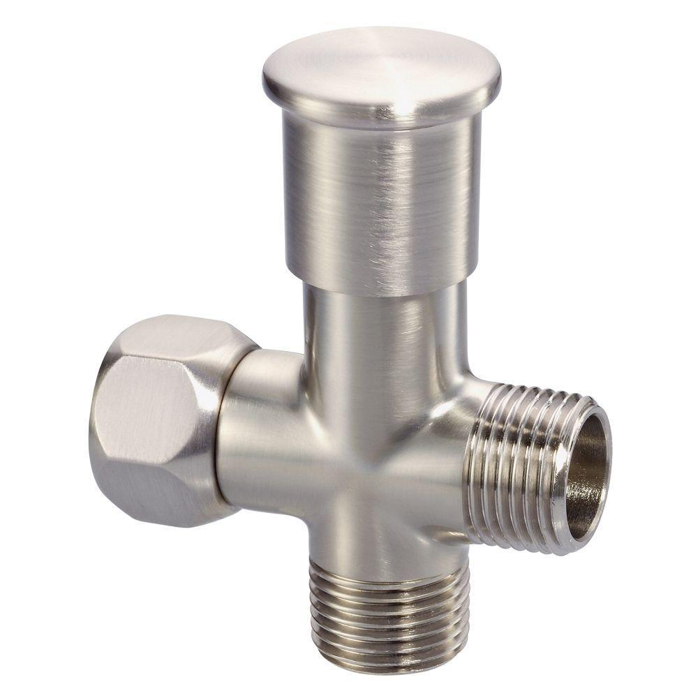 Push Pull Shower Arm Diverter in Brushed Nickel