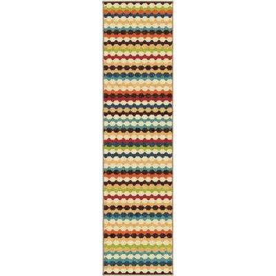 Jumping Jack Ivory 1 ft. 10 in. x 7 ft. 5 in. Indoor Runner