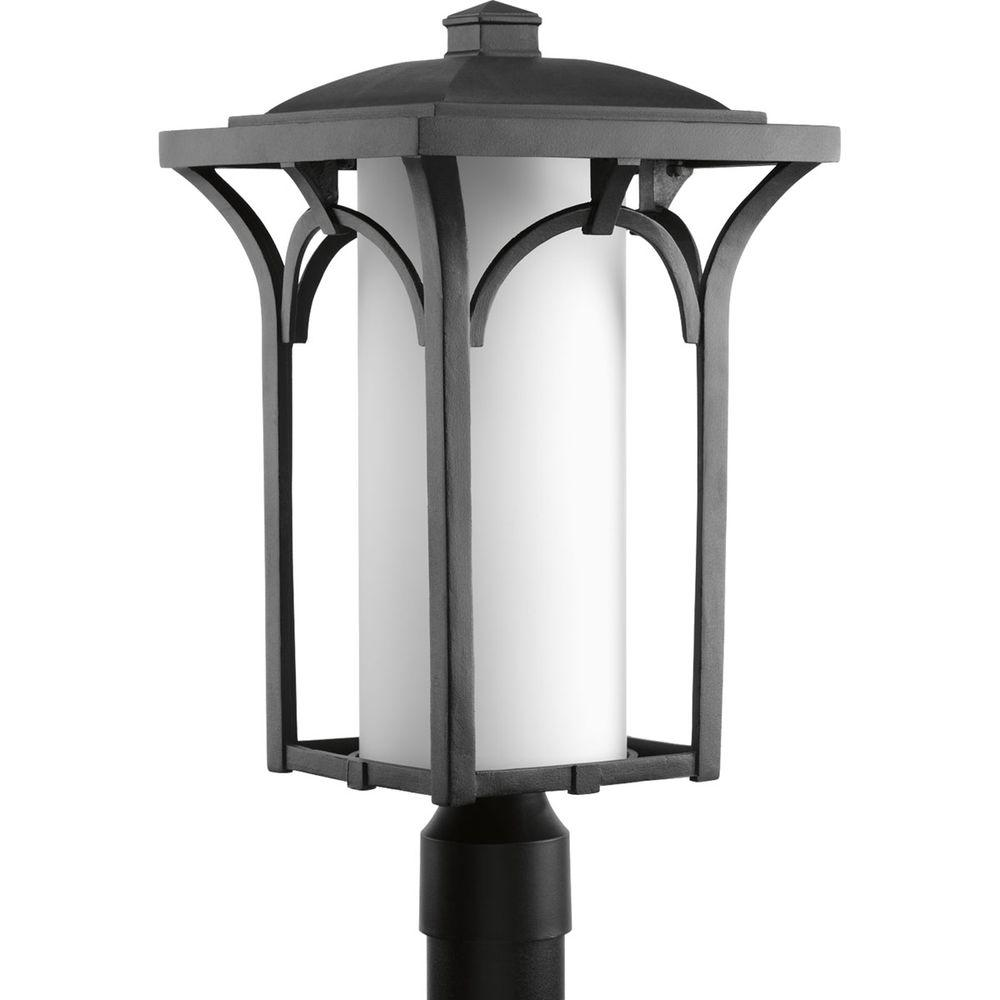 Promenade Collection 1-Light Black Outdoor Post Lantern