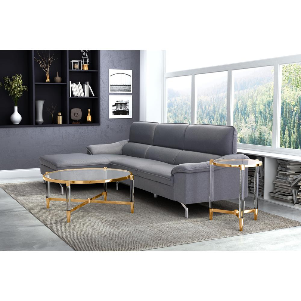 ZUO Existential Gold Coffee Table-100699