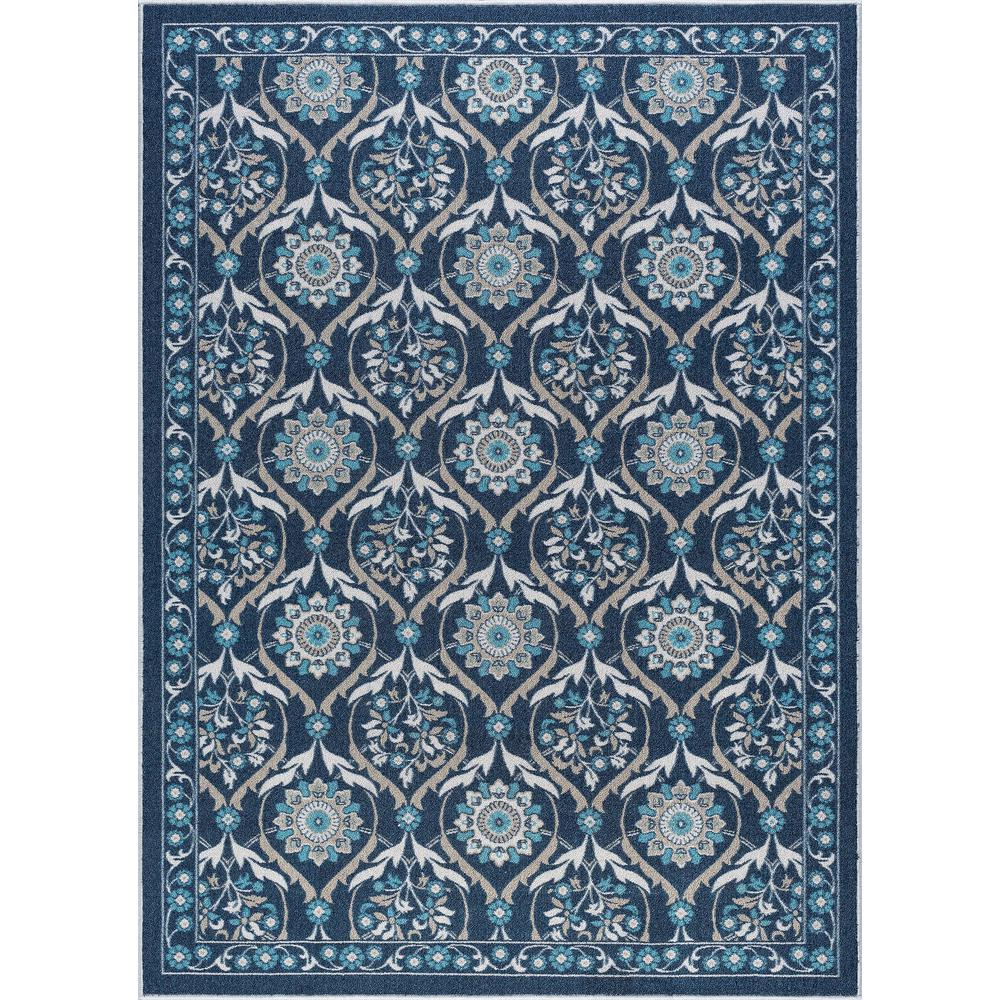 Tayse Rugs Majesty Navy 5 Ft X 7 Ft Transitional Area