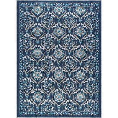 Majesty Navy 8 ft. x 10 ft. Transitional Area Rug