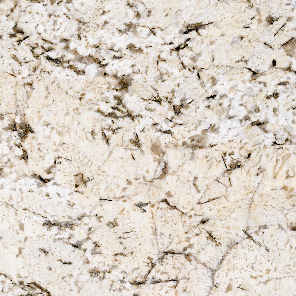 3 in. x 3 in. Granite Countertop Sample in White Sand