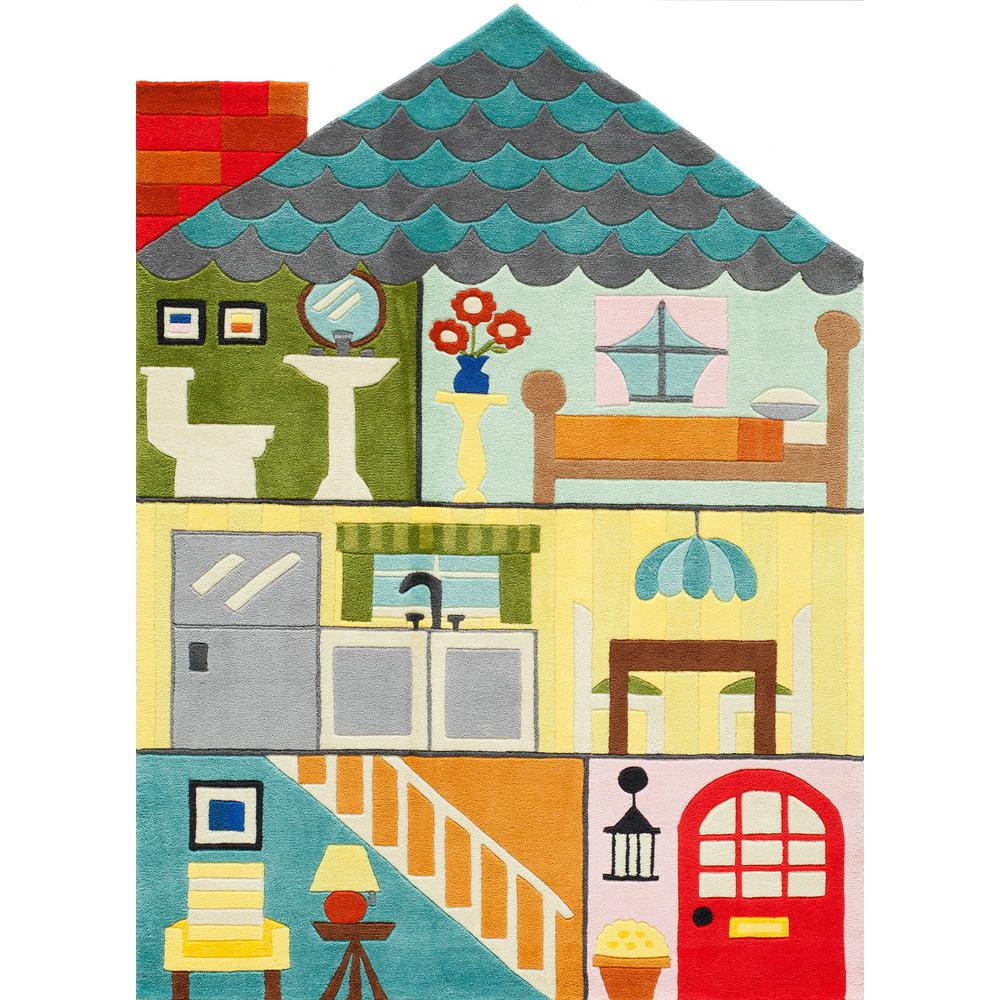 Momeni Lil Mo Whimsy Home Sweet Home Multi 4 Ft X 6 Ft