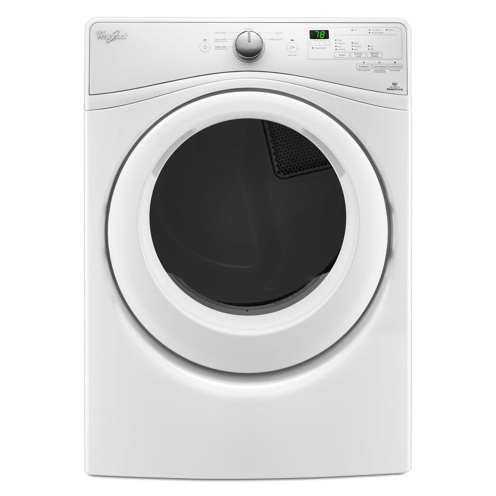 Werl Pool whirlpool 7 4 cu ft 120 volt white stackable gas vented dryer with