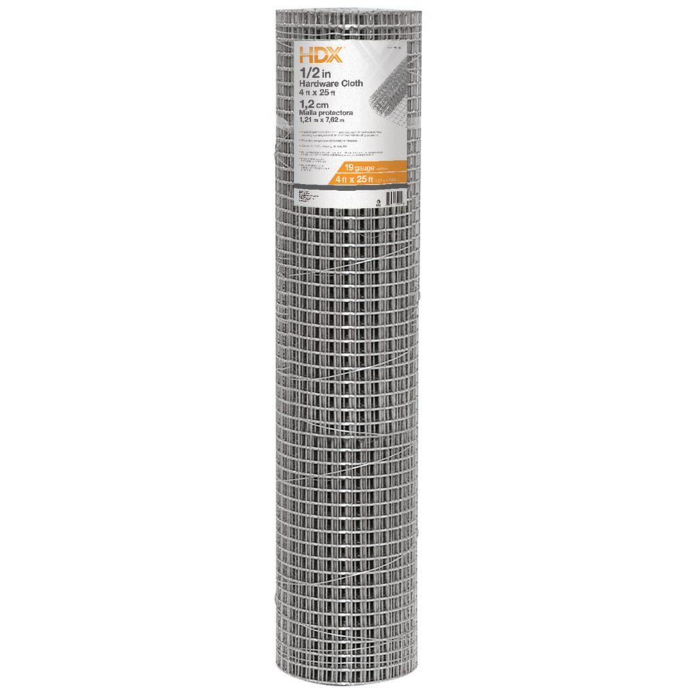 HDX 1/2 in. x 4 ft. x 25 ft. Hardware Cloth