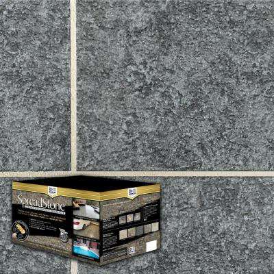 SpreadStone 2.5 Gal. Midnight Slate Satin Interior/Exterior Decorative Concrete Resurfacing Kit