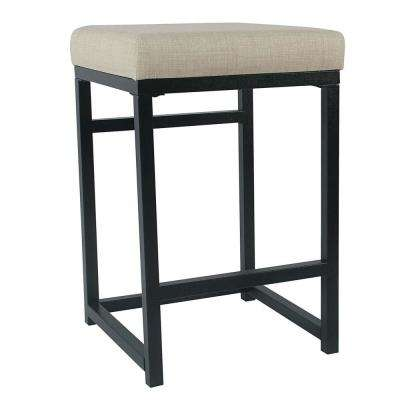 Open Back Metal  24 in. Light Gray Bar Stool