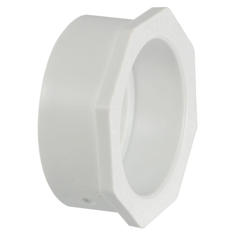 4 in. x 3 in. PVC DWV Spigot x Hub Flush