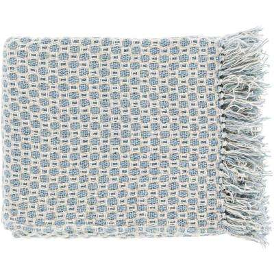 Victor Slate Cotton Throw