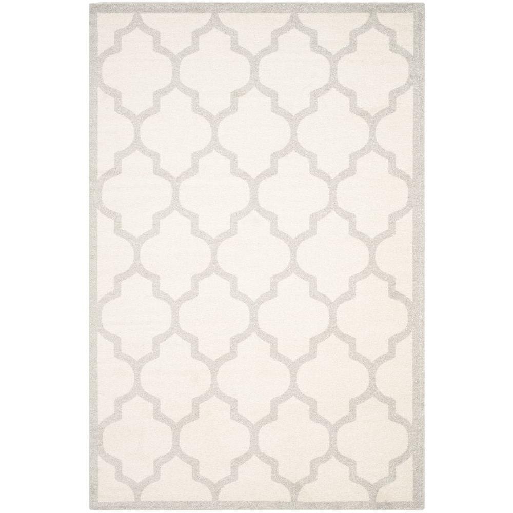 Amherst Beige/Light Gray 5 ft. x 8 ft. Indoor/Outdoor Area Rug