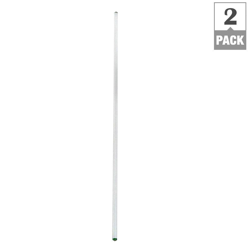 Philips 8 ft. T12 75-Watt Daylight Deluxe Linear Fluorescent Light Bulb (2-Pack)