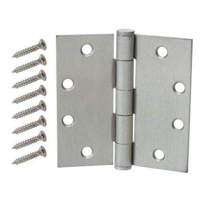 Inc Tell manufacturing Satin Chrome Spring Hinge NEW x 4.5 in 4.5 in