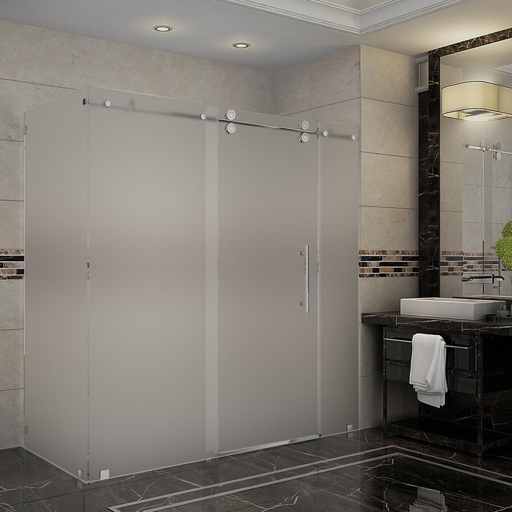 Aston Frosted Corner Shower Doors Shower Doors The Home Depot