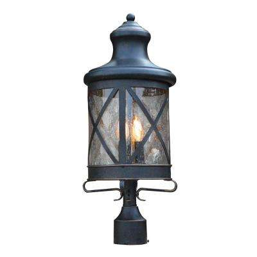 Taysom 3-Light Outdoor Oil Rubbed Bronze Post Light