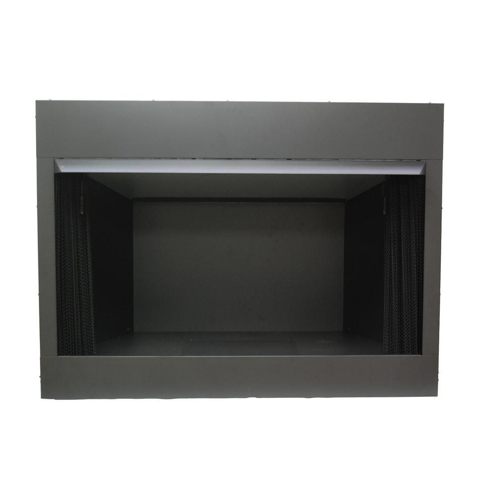 The Emberglow 42 in. Vent Free Circulating Firebox insert is designed for larger rooms with a full 42 in. wide opening which is perfect for 18 in. 24 in. and most 30 in. gas log models. The flush face