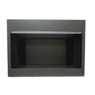 42 in. Vent Free Dual Fuel Circulating Firebox Insert with Screen. Black Finish