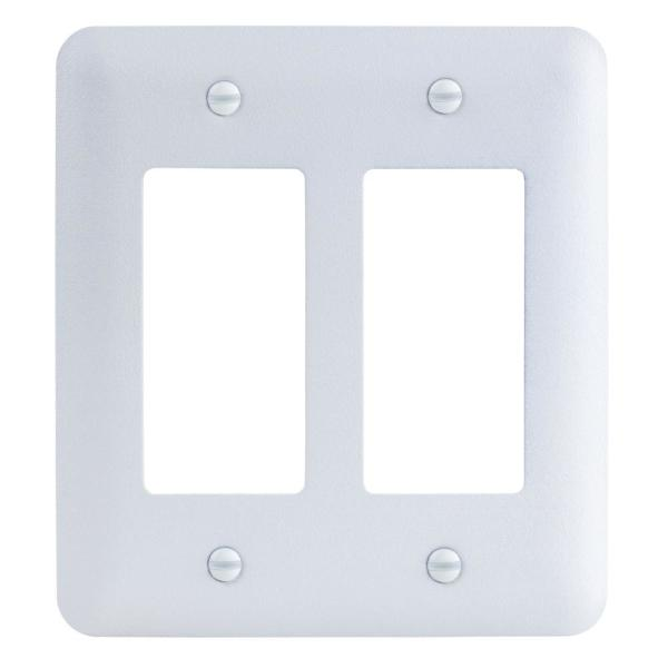 White 2-Gang 1-Decorator/Rocker/1-Duplex Wall Plate (1-Pack)