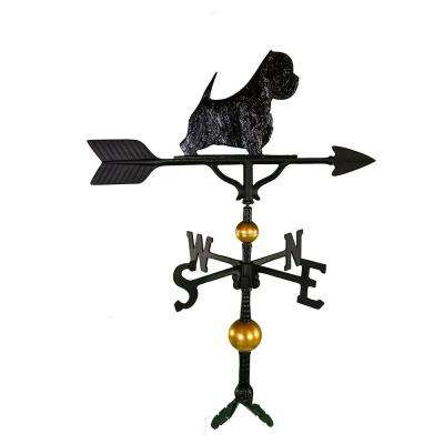 32 in. Deluxe Black West Highland White Terrier Weathervane