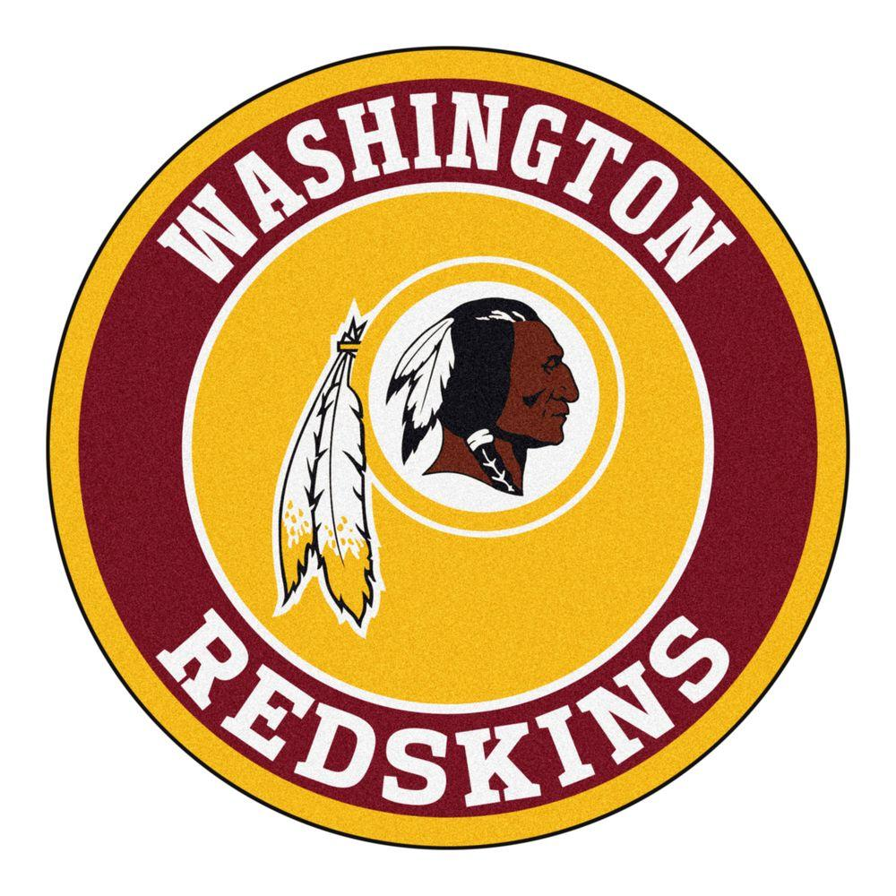 FANMATS NFL Washington Redskins Burgundy 2 ft. 3 in. x 2 ft. 3 in. Round Accent Rug-17979 - The ...